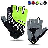 Souke Sports Guantes De Ciclismo Acolchados Antideslizantes Medio Dedo Acolchado Transpirable Guantes MTB Mujer/Hombres Unisexo
