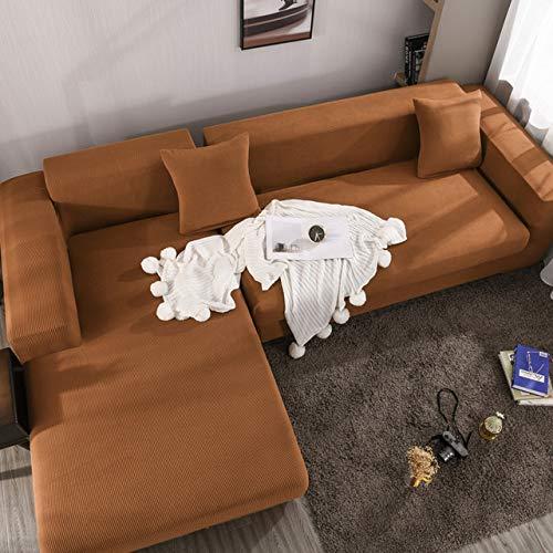WYSTLDR Wohnzimmer einfarbige Sofabezug, elastische Sofabezug für das Wohnzimmer, Sofabezug, 1/2/3/4 Sitz für Möbel