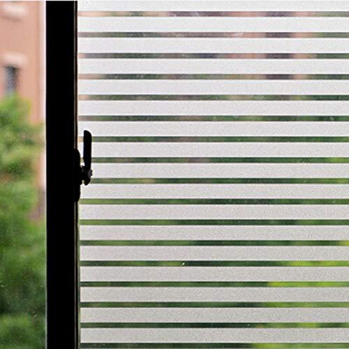 ConCus-T Strepen Raamfolie Statische elektriciteit Adsorption Geen Lijm Glasfilm Gebruikt Voor Privacy Bescherming Decoratie Van Kantoor Slaapkamer Balkon 90 x 200 CM
