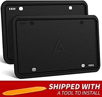 2-Pack Aujen Silicone License Plate Frame