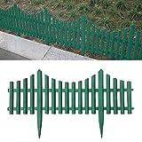 Flexible Borde de Jardín |Valla para Jardín Plástico | Ribete de Césped de Plástico | Borduras Jardín, Bordillos Para Jardín | Paquete de 6 (Longitud Total 360CM) (Green)