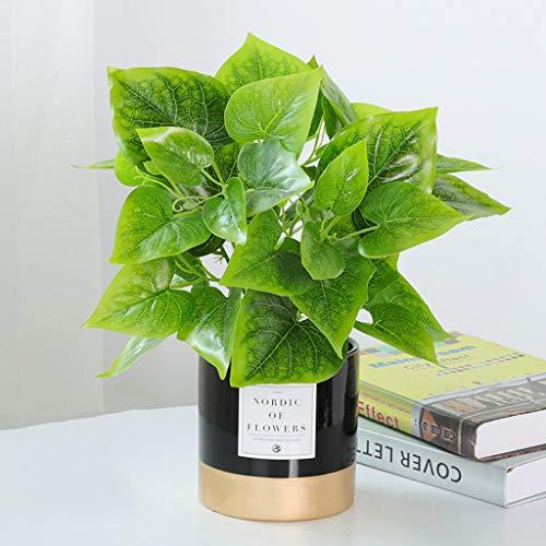 Kunstplanten In Glazen Bekken,Faux Plastic Plants Indoors Voor Kantoor Aan Huis Badkamer Keuken En Buiten, Restaurant Decor