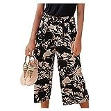 Pantalones de verano sueltos para mujer, ligeros, para el tiempo libre, para correr, yoga, danza y jogging, 2 negros., L