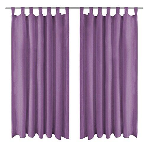 Lingjiushopping Lot de 2 Pinces en Satin Rideau Violet 140 x 175 cm avec Passants - Couleur : Violet