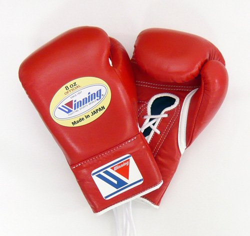 WINNING Professional Boxing Gloves 8oz (Red)