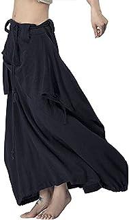 Outline Women's Vintage Linen Cotton Harem Pants Baggy Bohemian Wide Leg Pants
