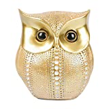 GoYonder Owl Decor Statue Sculpture for Home, Office, Bookshelf,TV Stand Decoration Resin Animal Sculpture Minimalist Style Crafts Gift for Friend or Family, Animal Lovers