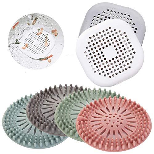 Weiming 6 Stück Abflusssieb Silikon, Dusche Abfluss Sieb Duschablauf Abdeckungen Waschbecken Sieb Haarfänger, Abfluss Sieb Waschbecken für Bad Badewanne und Küche.