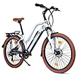 BLUEWHEEL 26' innovatives Damen E-Bike I Deutsche Qualitätsmarke I EU konform Top City Ebike + Nabenmotor I Shimano 7 Gänge + 25 km/h Fullspeed, bis 150 km Reichweite & App | BXB85 Electric Bike