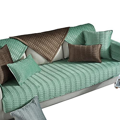 lixiaoyuttyy Fundas Sofa Elasticas Chaise Longue/Jacquard Protector De Cojin/Silla Antideslizante para Mascotas [Vendido por Pieza/No Es Un Juego Completo] Green Pillowcase(18×18in)