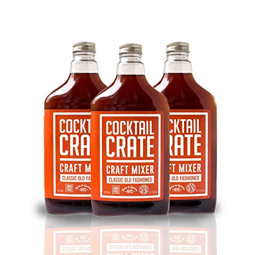 Cocktail Crate Old Fashioned Drink Mixer | Award-Winning Craft Cocktail Mixer for Classic Old Fashioned - Premium Cocktail Syrup Handcrafted with Aromatic Bitters & Demerara Sugar | 12oz - 3 pack