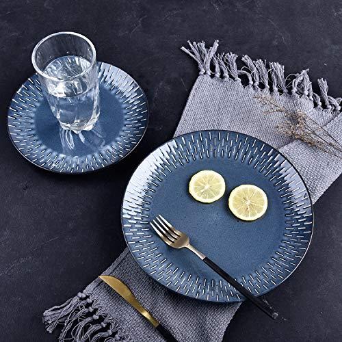 SUNXK Amerikaanse retro keramische servies Westerse steak schotel oven proces pasta gerecht persoonlijkheid diner bord schotel visschotel