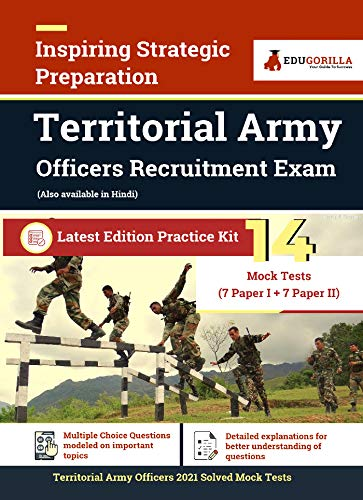 Territorial Army Offiers 2021 Exam   14 Full-length Mock Tests (Solved)   Latest Edition Indian Territorial Army (TA) Book as per Syllabus (English Edition)