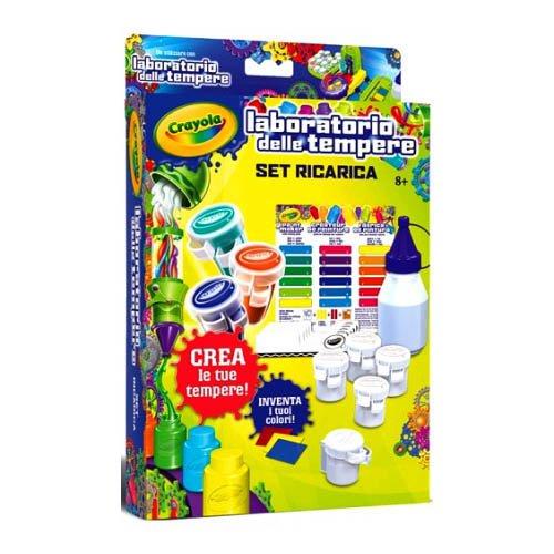 CRAYOLA- BINNEY & Smith Ricarica Laboratorio D/tempere Scuola Cartoleria, Multicolore, 74-7081