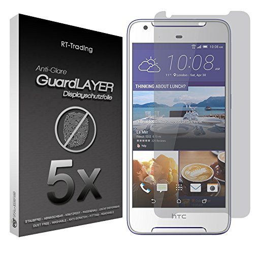 5x HTC Desire 628 - Bildschirm Schutzfolie Matt Folie Schutz Bildschirm Anti Glare Screen Protector Bildschirmfolie - RT-Trading