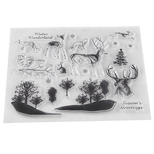 Transparante Clear Stamp Siliconen Seal Stamps DIY Scrapbook Fotokaarten Postkaarten Decoratie