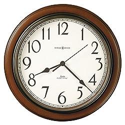 Howard Miller Talon Wall Clock 625-417 – Round, Cherry Finish with Auto Daylight Savings Time