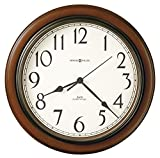 Howard Miller Talon Wall Clock 625-417 – Round, Cherry Finish with Auto Daylight Savings Time