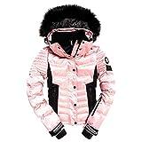 Superdry Puffer Veste de Snowboard pour Femme XS Ice Pink Metallic