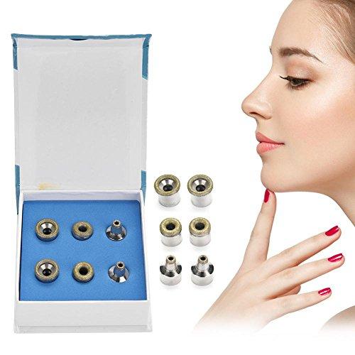Dermabrasion Diamond Tips, Portable 6 pcs Microdermabrasion con caja Herramienta de accesorio de máquina de belleza utilizada para el cuidado de la piel, exfoliación facial