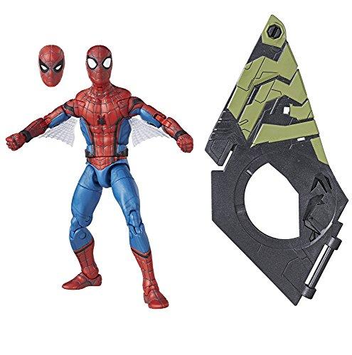 Marvel Legends Spider-Man - Figura de acción de Spider-Man (Pieza para construcción del Buitre), 15,24 cm