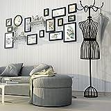 DONG Foto Wand Bilderrahmen Collage Foto Wand Foto Wand Bilderrahmen Bilderrahmen Kreative Wohnzimmer Sofa Wand Einfach (Farbe : Full Black)