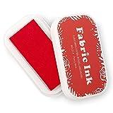 Tamponi di inchiostro in tessuto per timbri in gomma, lavabili per lavori artigianali, per realizzare biglietti per bambini, album di ritagli, inchiostro permanente per legno, carta, 9,4 x 5,3 cm
