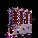N-brand Kit De Iluminación LED para La Sede De Firehouse Set Compatible con Lego 75827 Modelo De Bloques De Construcción (LED Solo Incluido, Sin Modelo),Basic