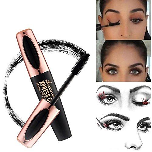 Rabusion Health For 4D Silk Fiber Lash Mascara Women Long-lasting Mascara Natural Makeup Tool