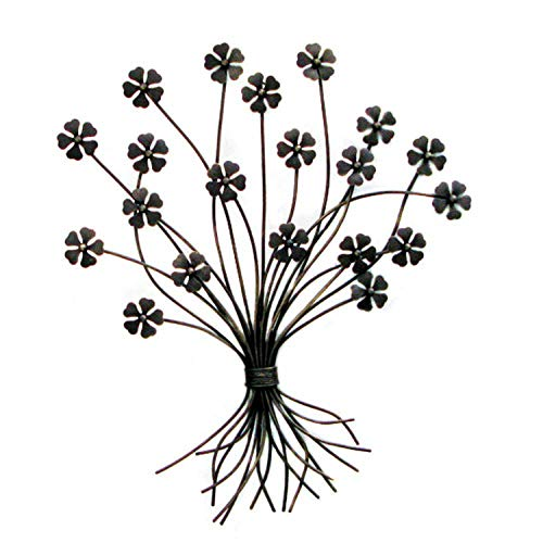 SPICE OF LIFE(スパイス) ウォールデコレーション パティナアイアン ブーケ ブラック 43×59.5cm YHF827