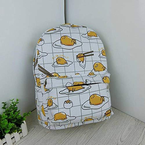 Vrouwelijke Student Bag Kind Print Geel Cartoon Rugzak Schooltas Vrouwelijke Wilde Rugzak Een Schouder Diagonaal Pakket