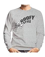 Disney Goofy Style Karakter Head Sweatshirt voor heren