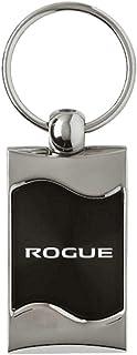 Au-TOMOTIVE GOLD, INC.  Spun Brushed Metal Key Chain for Nissan Rogue (Black)
