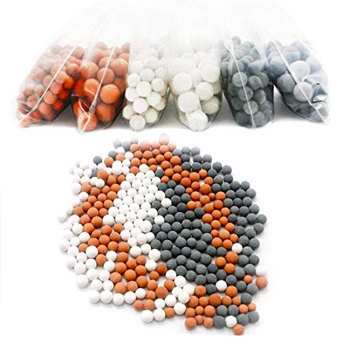 6 confezioni Negative Ion Mineral Balls Filtro doccia Filtro pietra ricostituente Pietra Bio-attiva per filtro ionico Testa doccia , purifica acqua di doccia
