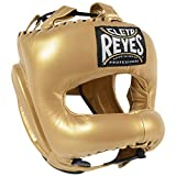 CLETO REYES Traditional Headgear with Pointed Nylon Face Bar (Solid Gold)