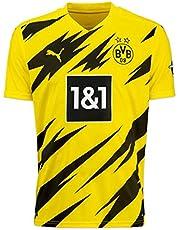 PUMA Bvb hemskjorta replika Ss Jr W/Sponsor logo W/Opel fotboll