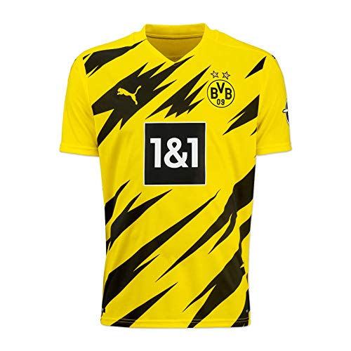 Puma BVB HOME Trikot Replica 20/21 T-shirt, Cyber Yellow-Puma Black, 128
