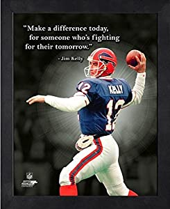 "Jim Kelly Buffalo Bills ProQuotes Photo (Size: 12"" x 15"") Framed"