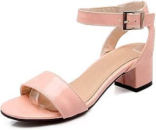 BalaMasa Womens ASL06878 Pu Heeled Sandals