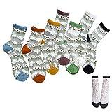 10 Paires Les Filles Femmes Chaussettes Hautes Transparent Transparent Chaussettes Fleuries Dentelle Vintage Chaussettes Courtes Taille 35-39,Multi Color