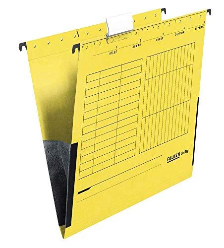 25 FALKEN Hängetaschen UNIREG / gelb / DIN A4 / 230 g/m²