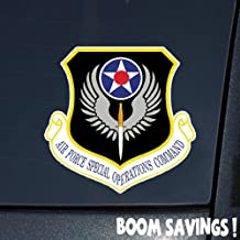 """Boomsavings Air Force USAF Shield Special Operations Command (AFSOC) 1 6"""" Decal Sticker"""