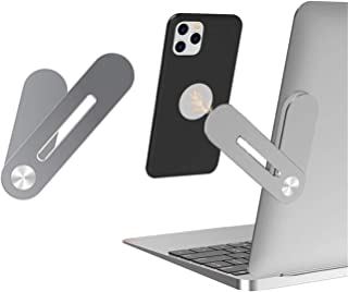 Magnetic Phone Mount Side Mount Clip for Laptop,Aluminum Alloy Computer Expansion Bracket with Rotatable Angle Adjustment,...