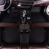 Luomp Custom Car Floor Mats, Coches Cobertura Completa Impermeable Antideslizante de Cuero de tapetes para Volvo S60 2011-2017, Negro, Volvo XC90 5-Asientos 2015-2019