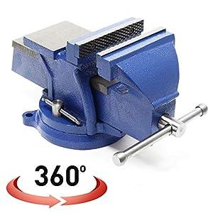 Tornillo de banco Heavy Duty Mordaza de banco 150 mm con yunque 6'' Morsa de taller Uso insdustrial