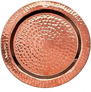 Sertodo Copper, Round Napa Bottle Coaster, Hand Hammered 100% Pure Copper, 5.5 inch diameter, Single