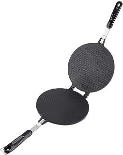 Machine à gaufres, moule à gaufres double face antiadhésif pour omelette de cornets de crème glacée à crêpe Pizzelle, diam...