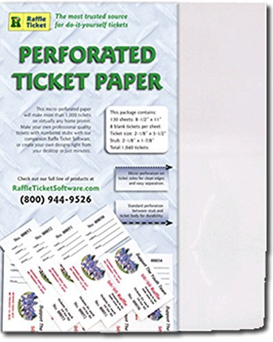 Perforated Ticket Paper (White 67lb Card)