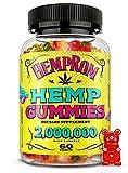Organic Hēmp Gummies for Sleep and Anxiety Premium Gummy Bears Support Good Mood, Anti-Stress, Pain & Inflammation, 60 Gummies (Fruit Flavour, Vegan, Non-GMO, Gelatin Free)