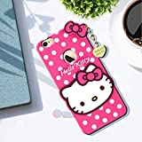Roxel Hello Kitty Cartoon 3D Case Cover Compatible with iPhone 6 Plus| Soft